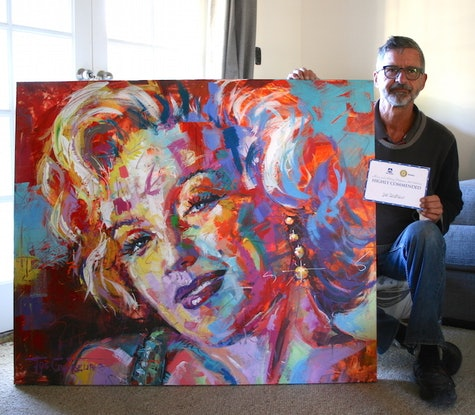 (CreativeWork) Marilyn Monroe by Jos Coufreur. #<Filter:0x00007f9790b0cb40>. Shop online at Bluethumb.