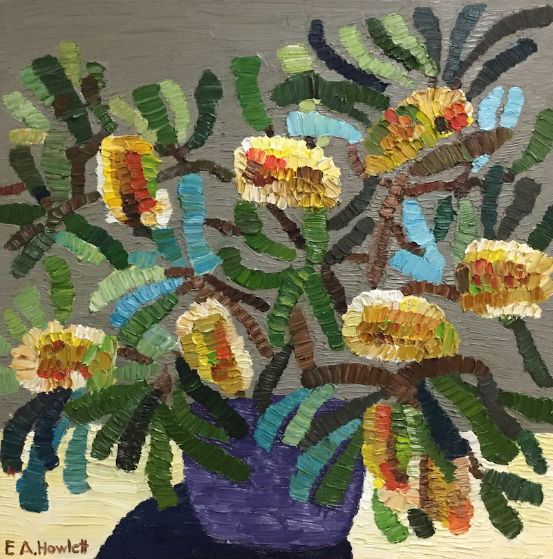 (CreativeWork) Banksia Bunch  by Elisabeth Howlett. oil-painting. Shop online at Bluethumb.