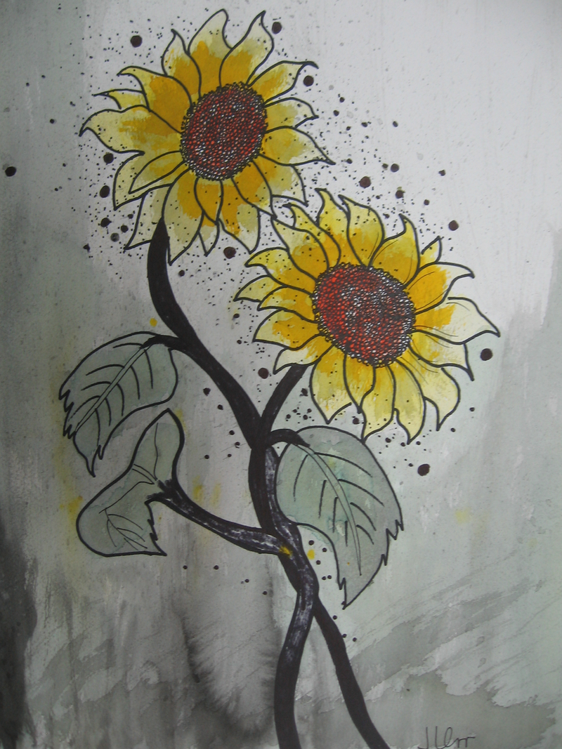 (CreativeWork) SUMMER SUNNYS by June Orr. watercolour. Shop online at Bluethumb.
