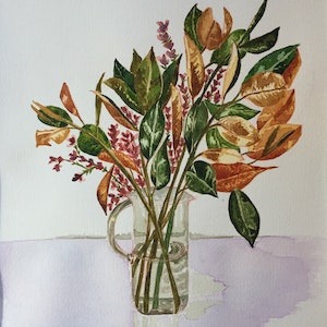 (CreativeWork) Floral by Claudia Rojas. watercolour. Shop online at Bluethumb.