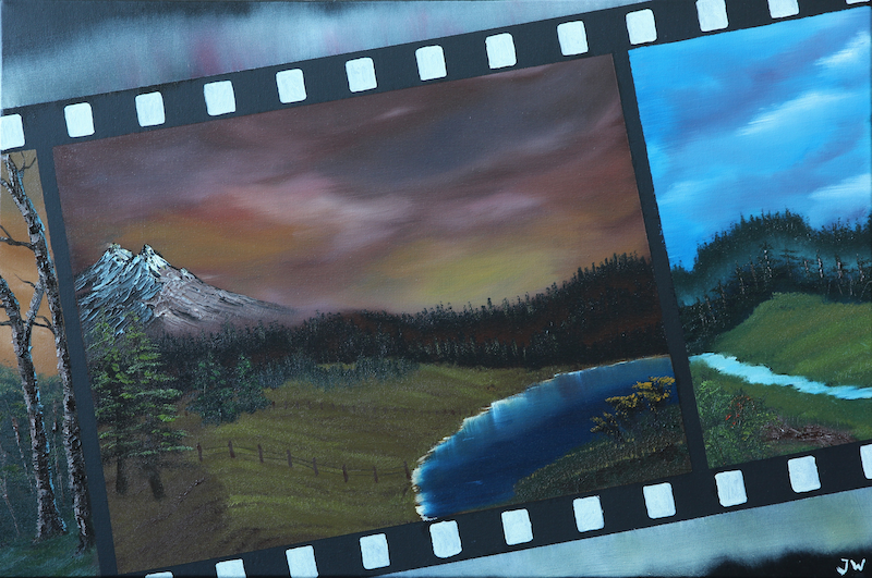 (CreativeWork) Landscape photographer by Jasper Wijnands. oil-painting. Shop online at Bluethumb.