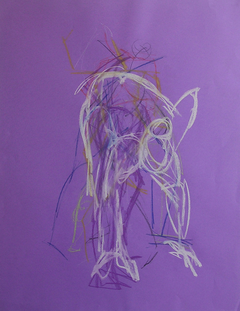 (CreativeWork) Life Drawing - Quick Sketch On Violet by Ishbel Morag Miller. drawing. Shop online at Bluethumb.