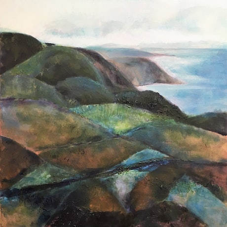 (CreativeWork) View to the Cove by Narelle Callen. Acrylic Paint. Shop online at Bluethumb.