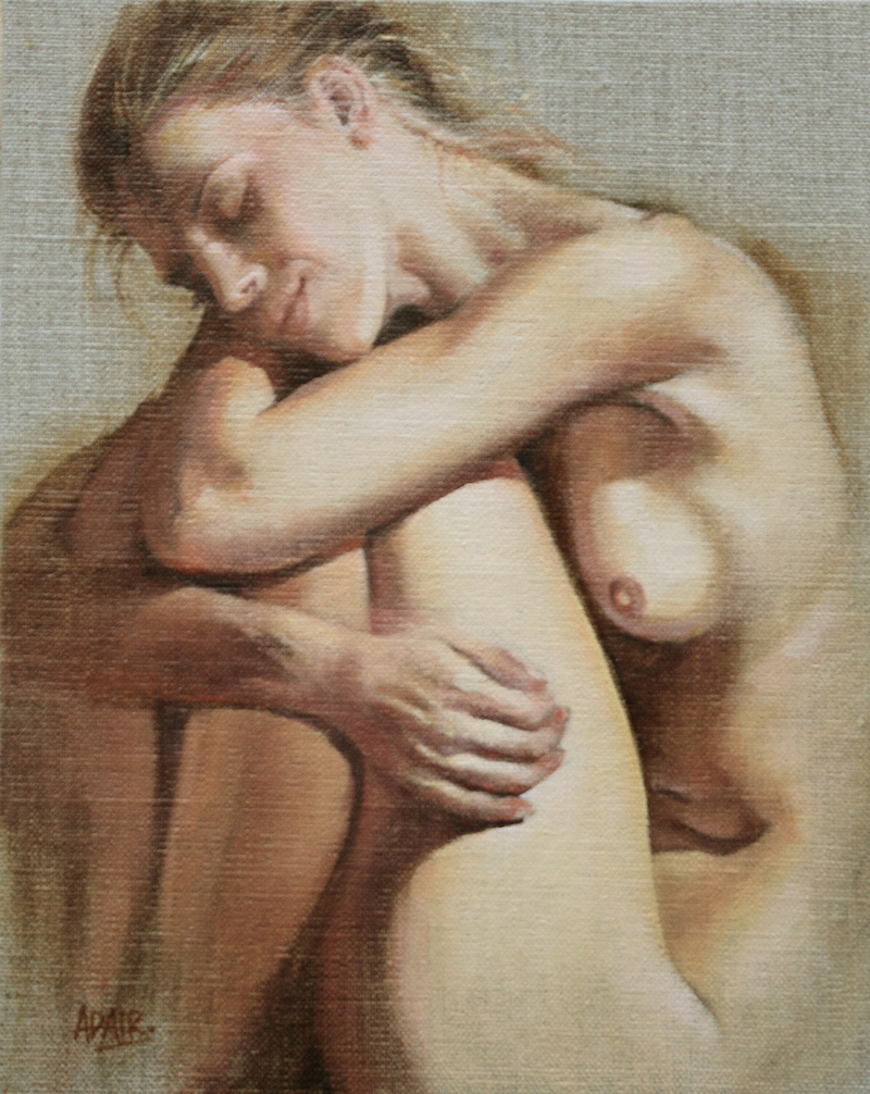 (CreativeWork) Warm Embrace by Pauline Adair. oil-painting. Shop online at Bluethumb.
