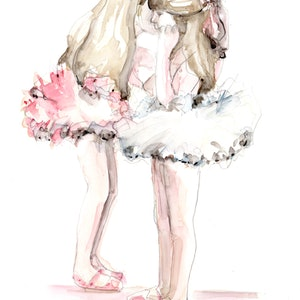 (CreativeWork) Friends Forever >Limited Edition Print 1 of 25 by Marta Madison. watercolour. Shop online at Bluethumb.