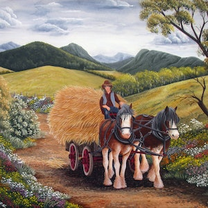 (CreativeWork) Heading Home by Debra Dickson. arcylic-painting. Shop online at Bluethumb.