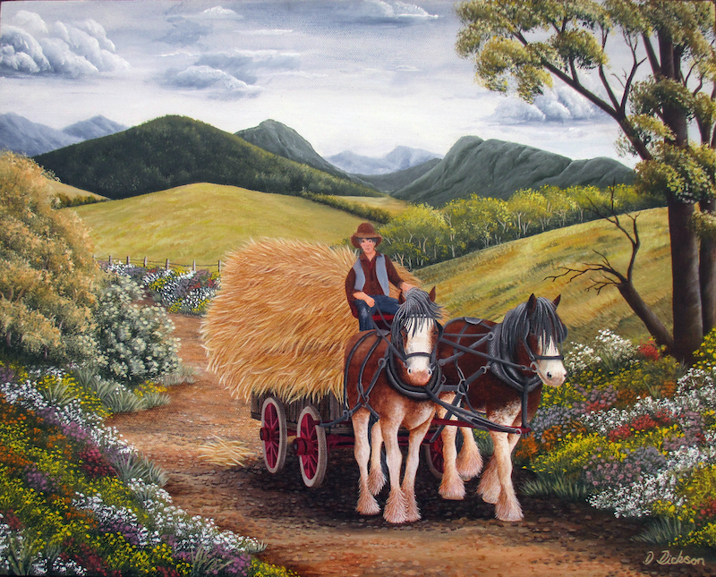 (CreativeWork) Heading Home by Debra Dickson. acrylic-painting. Shop online at Bluethumb.