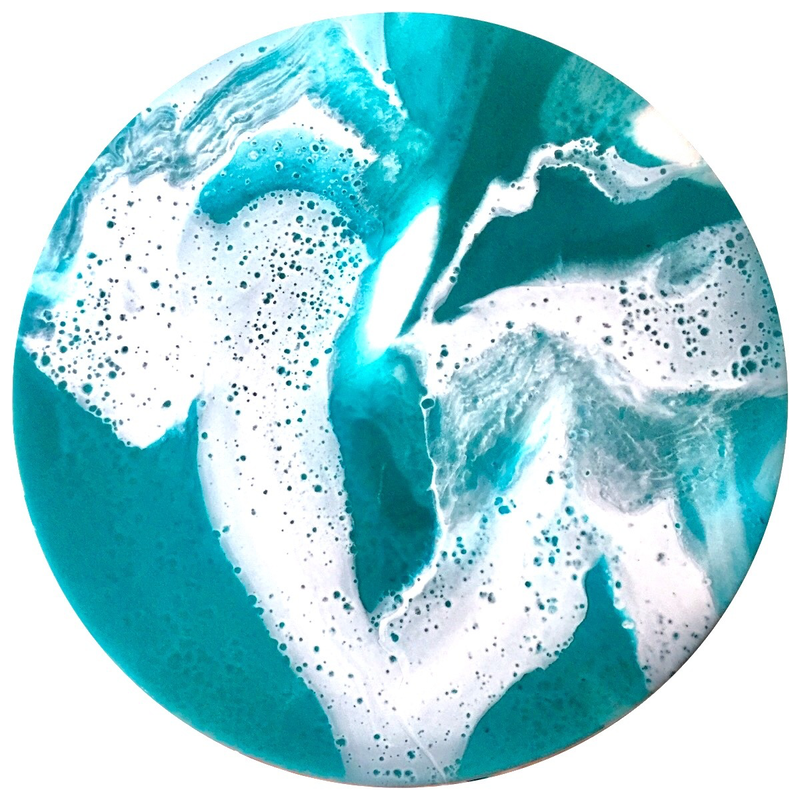 (CreativeWork) LARIMAR Resin Painting by Fujan Willemse. resin. Shop online at Bluethumb.