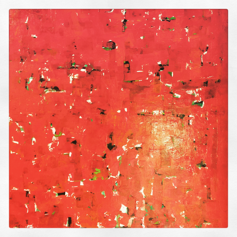 (CreativeWork) Visual Field: Red (2010) by Jerome Whitcroft. acrylic-painting. Shop online at Bluethumb.
