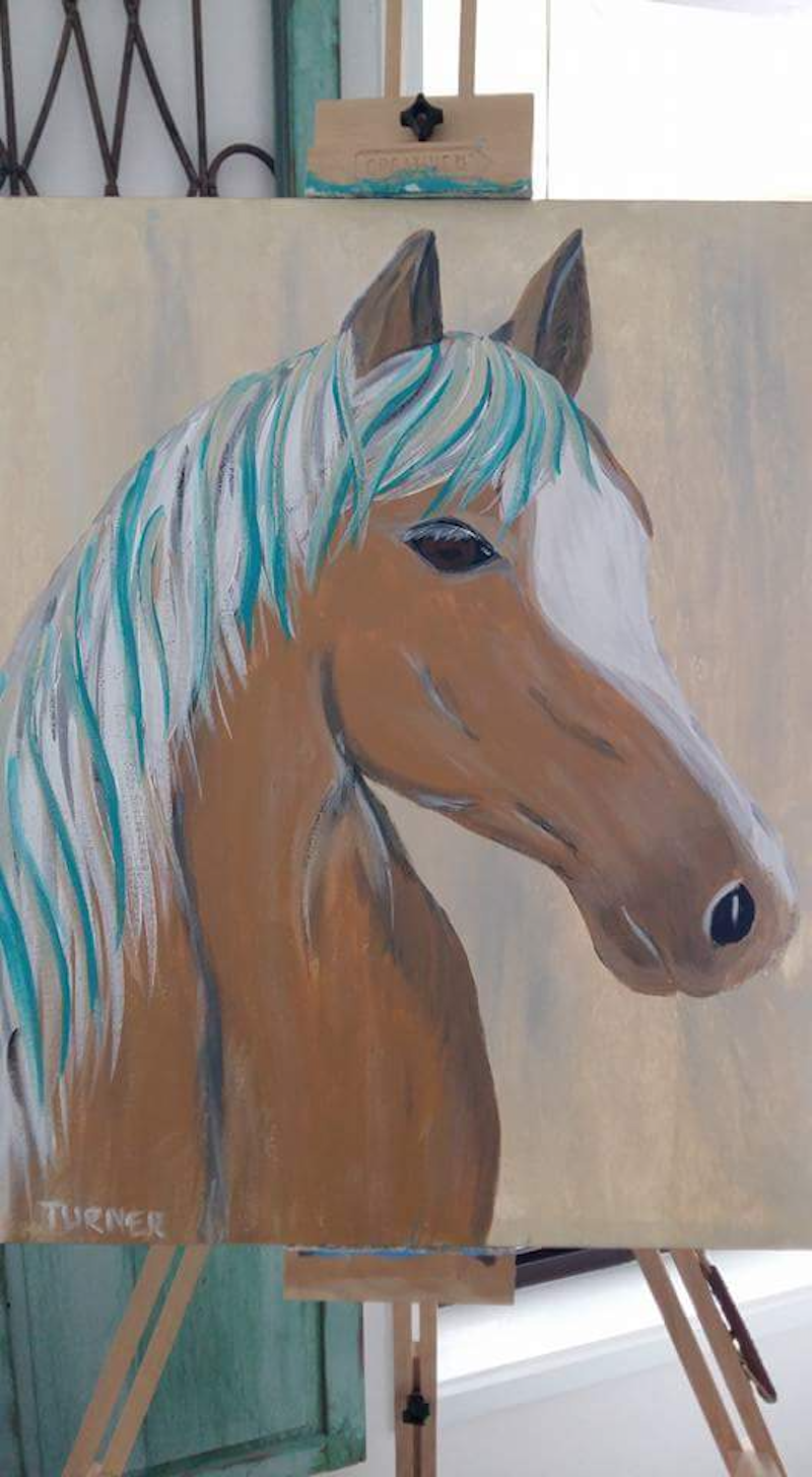 (CreativeWork) Palomino  by Stacey Turner. arcylic-painting. Shop online at Bluethumb.