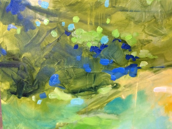 (CreativeWork) Crystal clear 4 by sue bannister. Oil Paint. Shop online at Bluethumb.