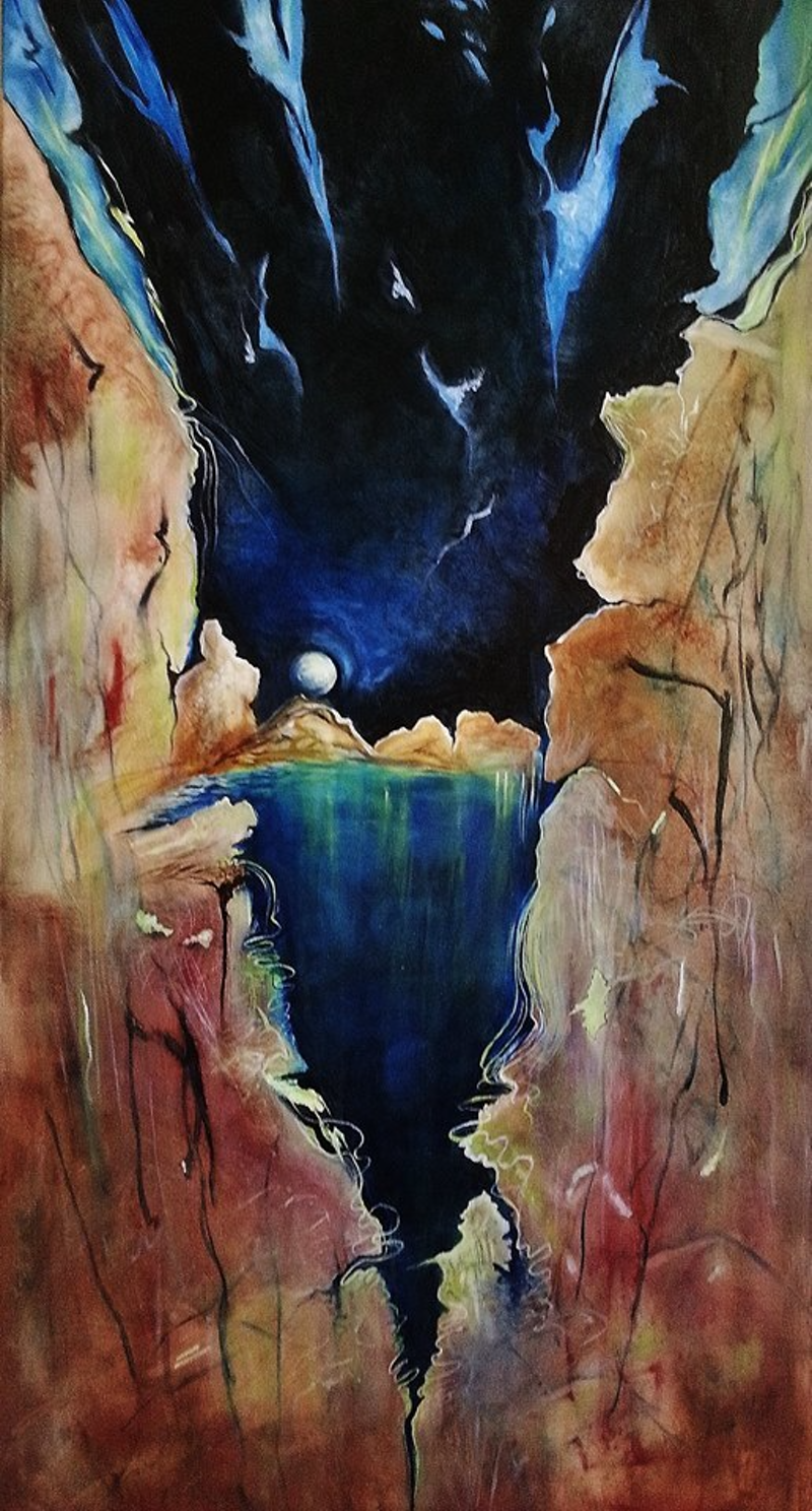 (CreativeWork) The Beautiful Abyss by Aloisia Fenyes. oil-painting. Shop online at Bluethumb.