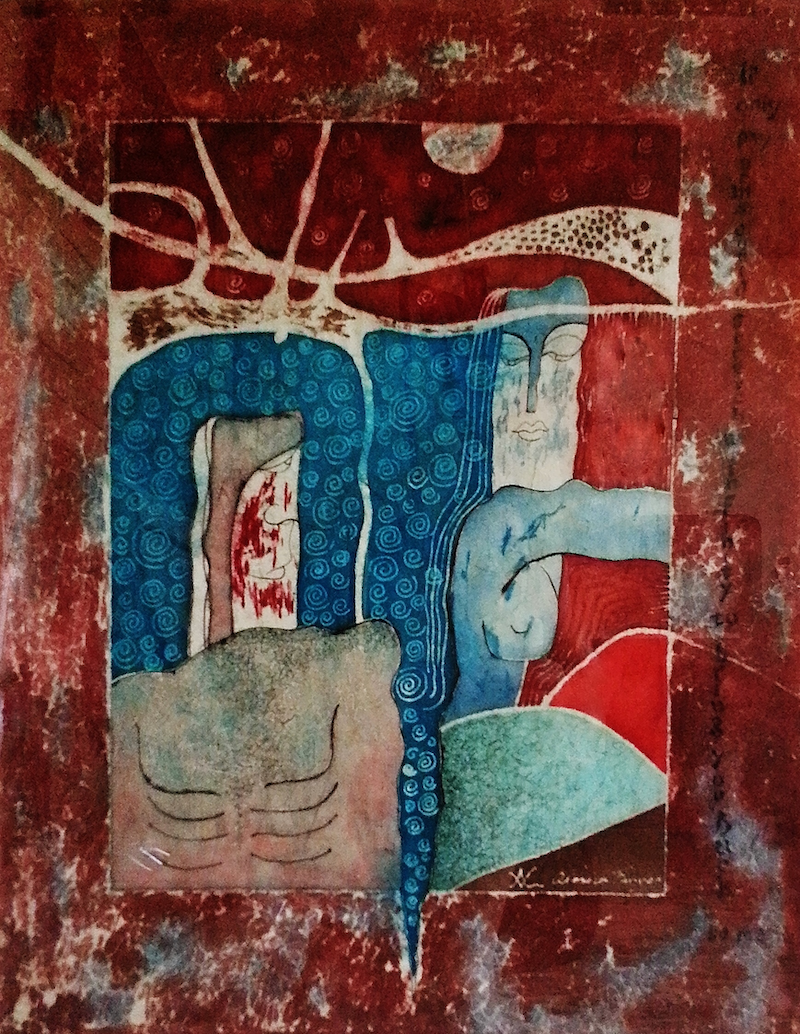 (CreativeWork) IF ONLY by Aloisia Fenyes. mixed-media. Shop online at Bluethumb.