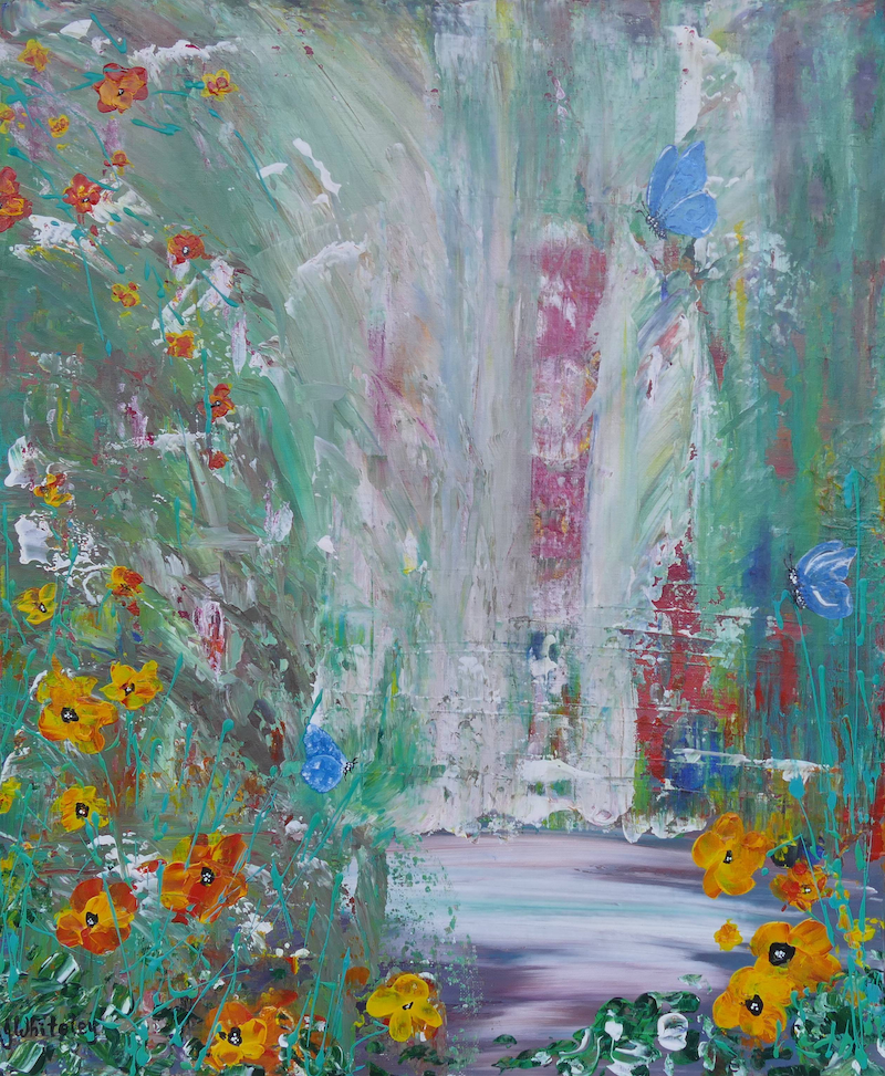 (CreativeWork) Tropical Seclusion by Jennifer Whiteley. acrylic-painting. Shop online at Bluethumb.