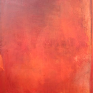 (CreativeWork) Blue Walls Burning by Belinda Rogers. oil-painting. Shop online at Bluethumb.