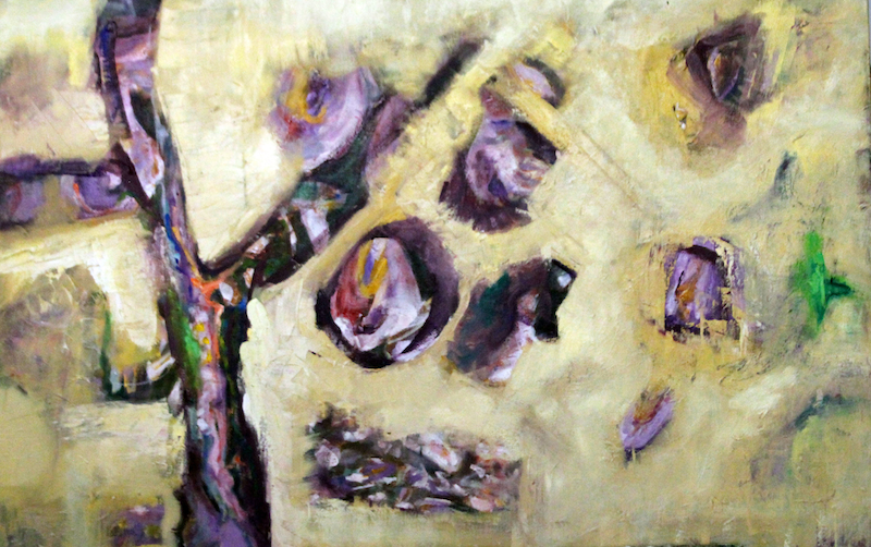 (CreativeWork) WISTERIA TREE by Maureen Finck. oil-painting. Shop online at Bluethumb.