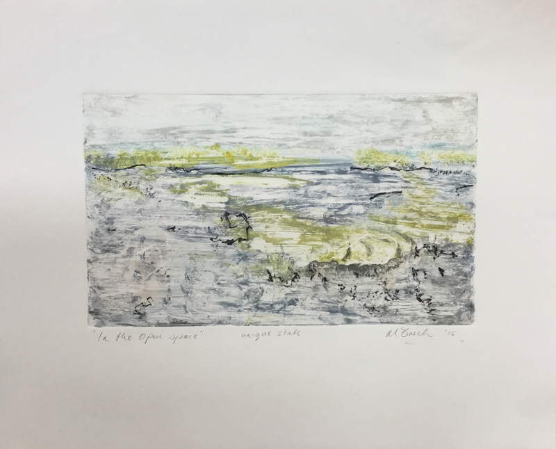 (CreativeWork) In the open space by Marian Bosch. watercolour. Shop online at Bluethumb.