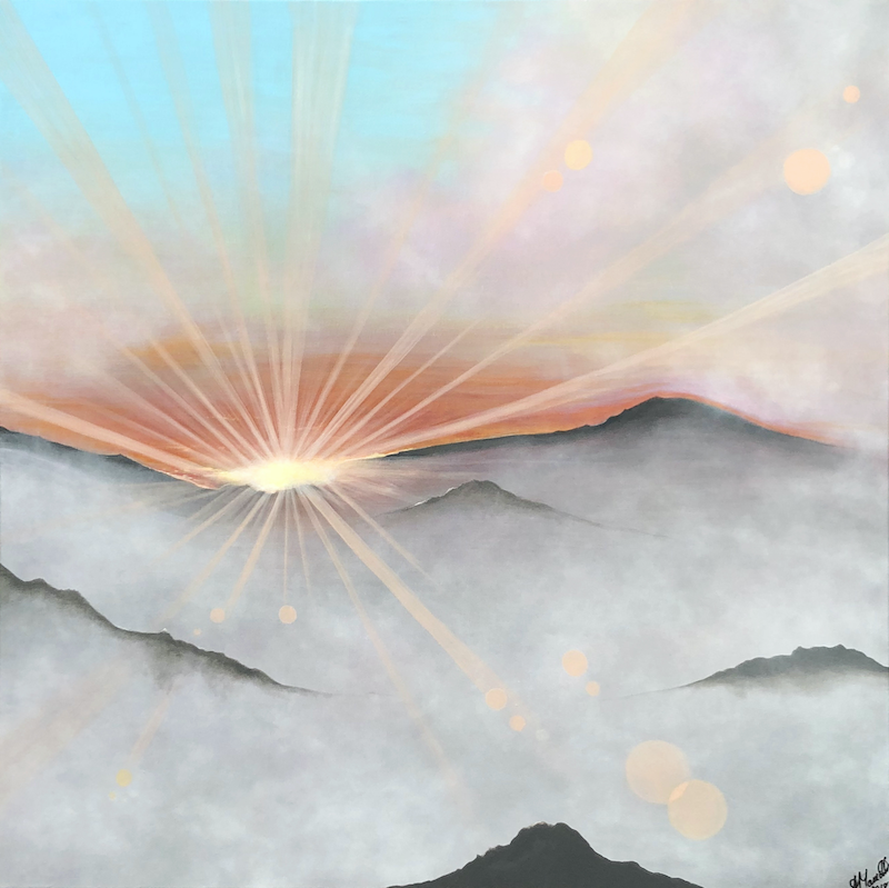 (CreativeWork) A Diamond in the Sky by Andrea Marriette. acrylic-painting. Shop online at Bluethumb.