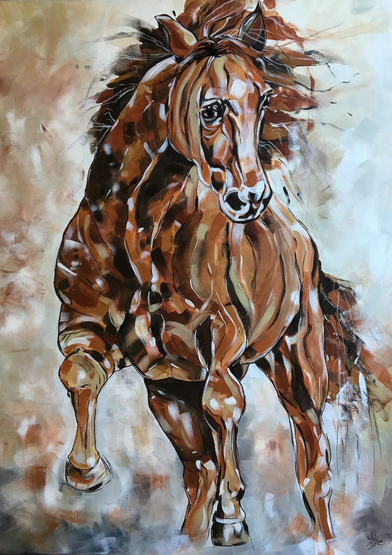 (CreativeWork) Bay Boy by Susan Fuss. arcylic-painting. Shop online at Bluethumb.