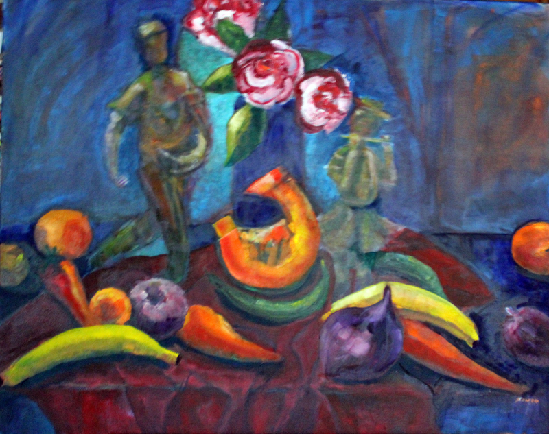 (CreativeWork) THE HARVEST by Maureen Finck. oil-painting. Shop online at Bluethumb.