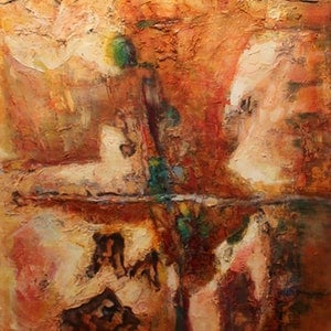 (CreativeWork) OLD WALL AT THE PORT by Maureen Finck. arcylic-painting. Shop online at Bluethumb.