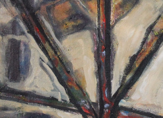 (CreativeWork) ABSTRACT TREE by Maureen Finck. Oil Paint. Shop online at Bluethumb.