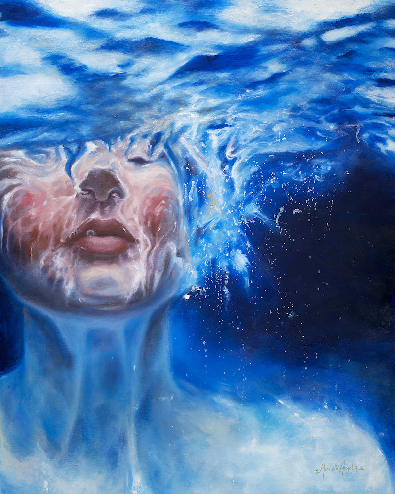 (CreativeWork) Just Breathe 2.0 by Michelle Angelique. oil-painting. Shop online at Bluethumb.
