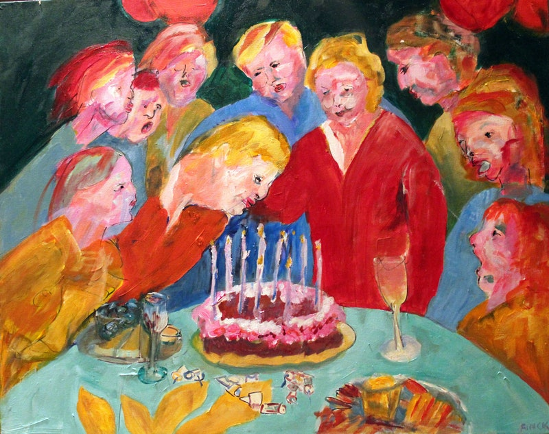 Image result for birthday painting