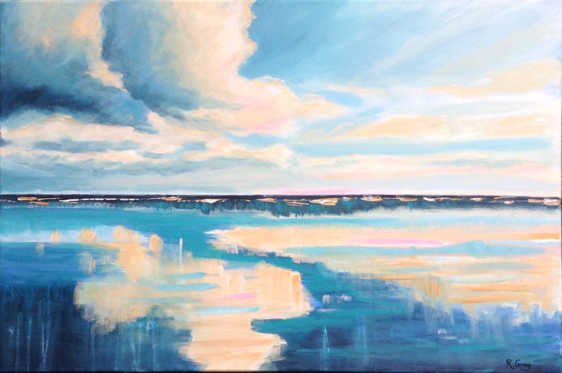 (CreativeWork) Turquoise Dreaming by Robyn Gray. acrylic-painting. Shop online at Bluethumb.