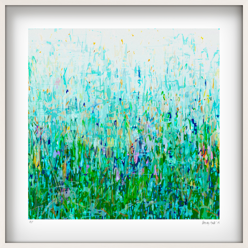 (CreativeWork) 'Wendy's Garden' 8 white box framed  by George Hall. print. Shop online at Bluethumb.