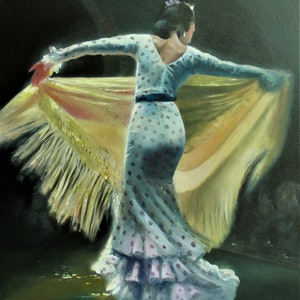 (CreativeWork) The Dancer by Jamie Brown. oil-painting. Shop online at Bluethumb.