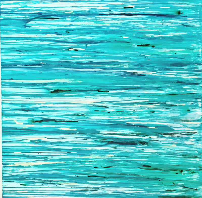 (CreativeWork) STILL GREEN WATERS  by April Lockwood. mixed-media. Shop online at Bluethumb.