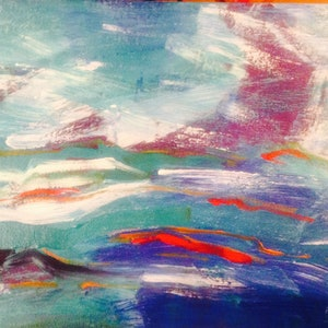 (CreativeWork) Ocean  by Jodie Herden. arcylic-painting. Shop online at Bluethumb.