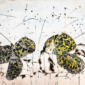 (CreativeWork) Baby Turtles by Leith Kennedy. mixed-media. Shop online at Bluethumb.