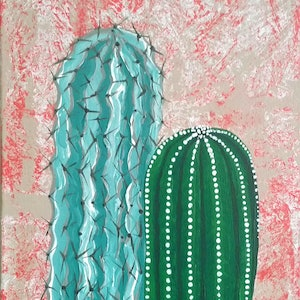 (CreativeWork) Vera Spikey by Emily Lauro. arcylic-painting. Shop online at Bluethumb.