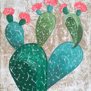 (CreativeWork) Etta Pricklypear  by Emily Lauro. arcylic-painting. Shop online at Bluethumb.