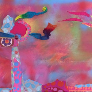 (CreativeWork) Carnival by Tanya Tauszky. mixed-media. Shop online at Bluethumb.