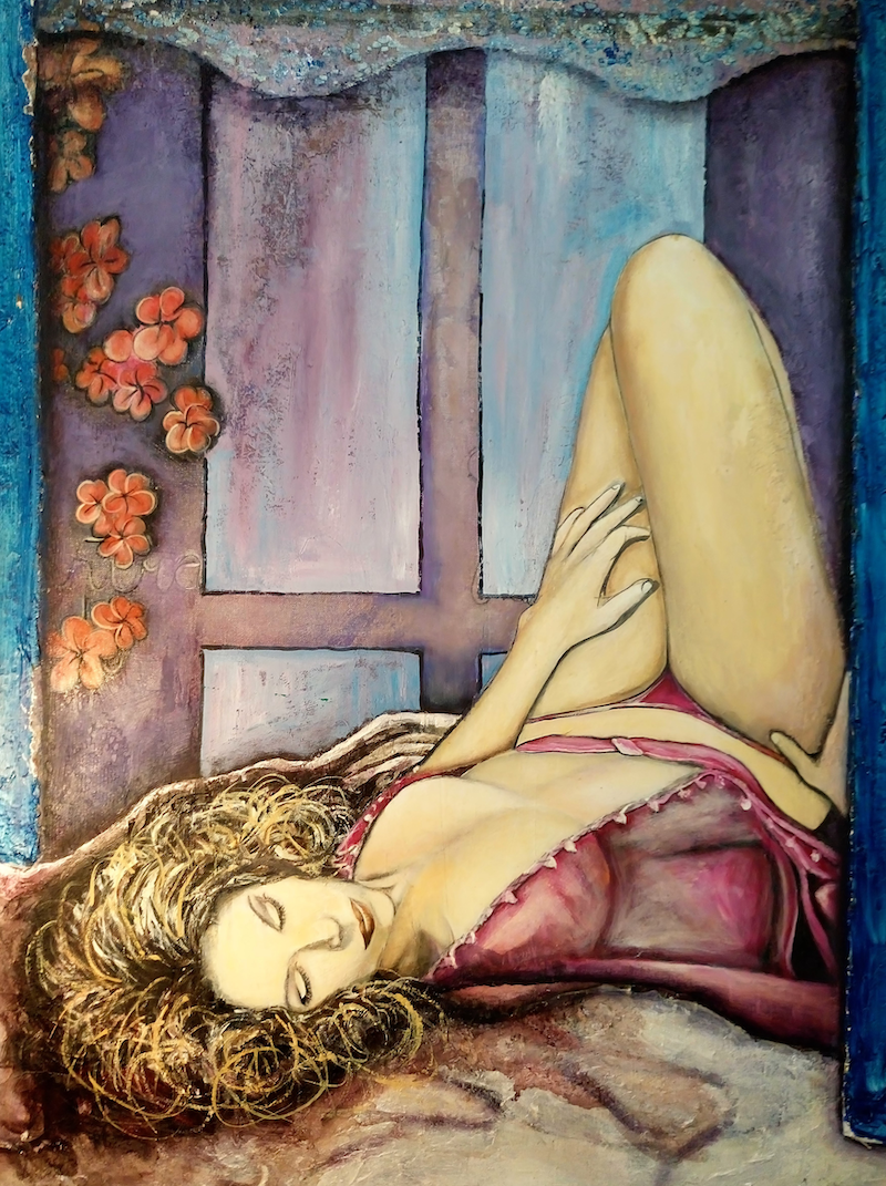 (CreativeWork) SHE by Ms Lil. mixed-media. Shop online at Bluethumb.
