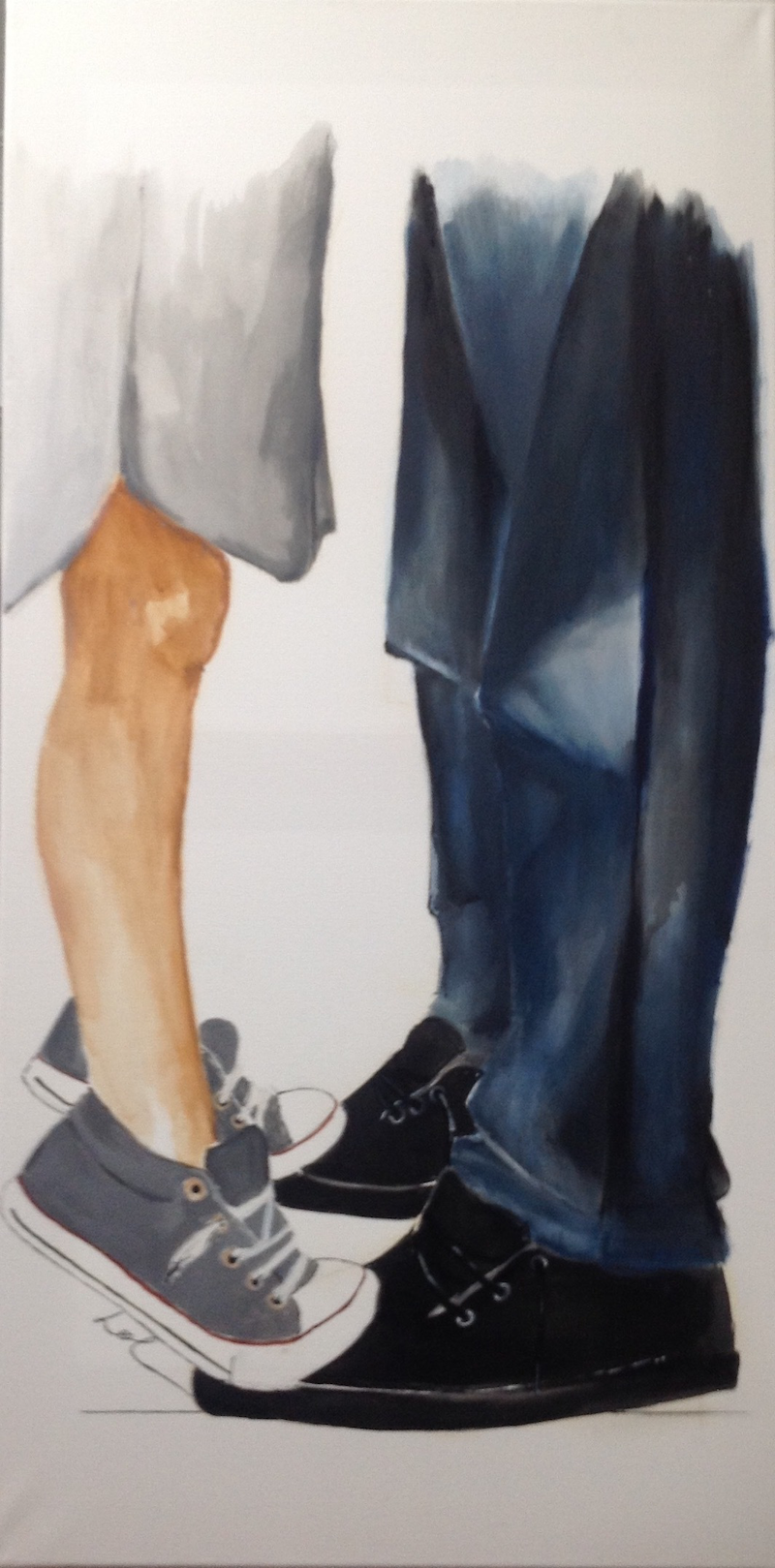 (CreativeWork) Dance with me too by Leah Dodd. arcylic-painting. Shop online at Bluethumb.