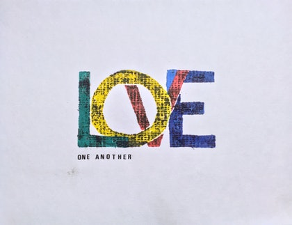 (CreativeWork) Love One Another (180617) by Jim Shorto. print. Shop online at Bluethumb.