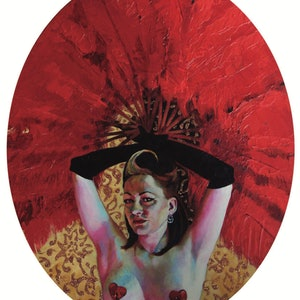 (CreativeWork) Crimson titillation by Linda H O'Grady. #<Filter:0x00005567a6f434c8>. Shop online at Bluethumb.