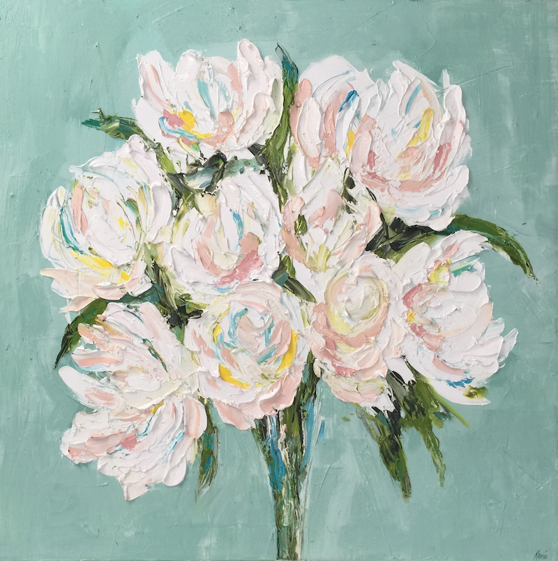(CreativeWork) Shades of White by Renia Lakomy. oil-painting. Shop online at Bluethumb.