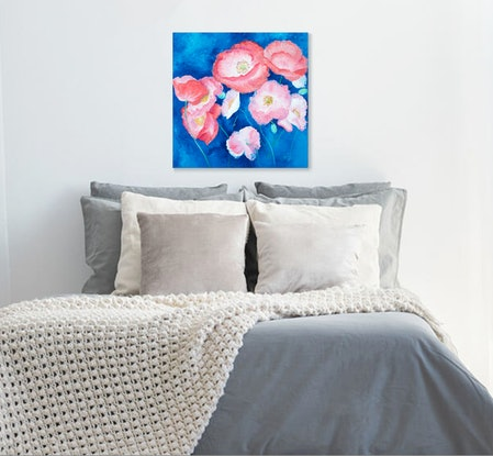 (CreativeWork) Iceland Poppies - still life by Jan Matson. Oil Paint. Shop online at Bluethumb.