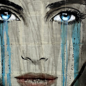 (CreativeWork) BLUE LIGHT by loui jover. drawing. Shop online at Bluethumb.