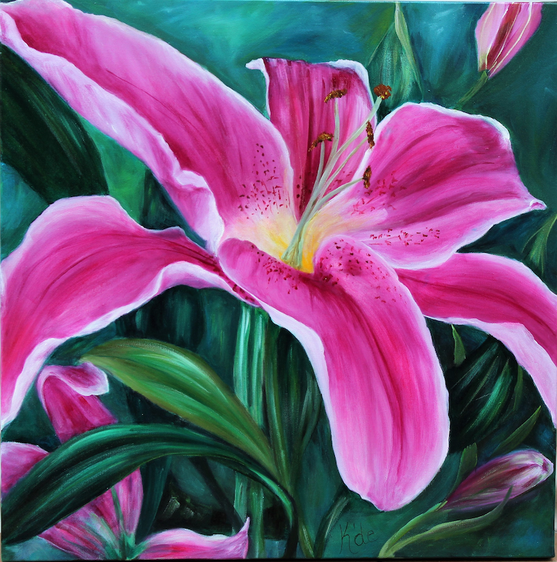 (CreativeWork) Lillium by Kathryn deBoer Ipsen. acrylic-painting. Shop online at Bluethumb.