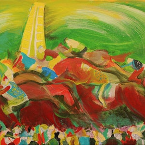 (CreativeWork) THE WINNER IS... by Shaun J Myles. arcylic-painting. Shop online at Bluethumb.