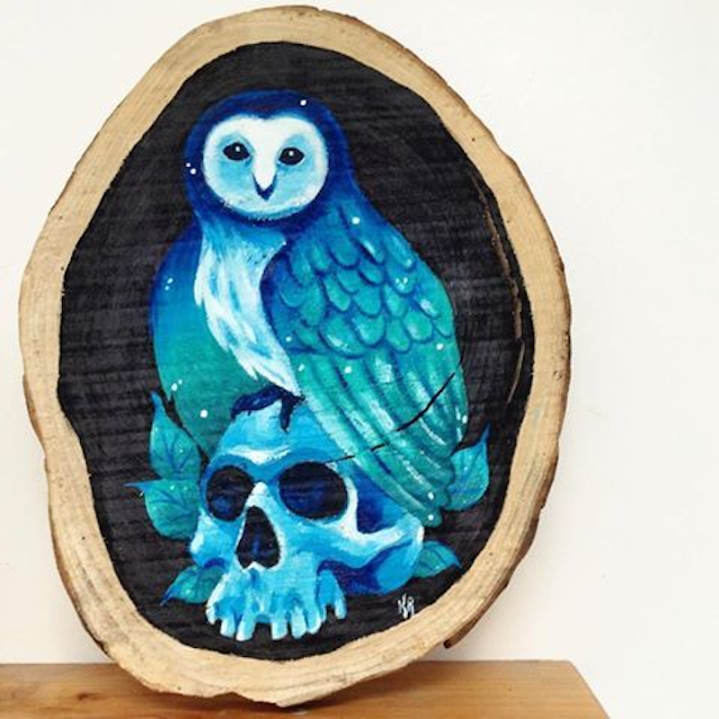 (CreativeWork) Nocturnal by Katelyn Allen-Foote. arcylic-painting. Shop online at Bluethumb.