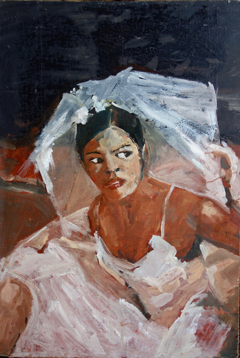 (CreativeWork) The bride was drunk by Pete GAILEY. oil-painting. Shop online at Bluethumb.