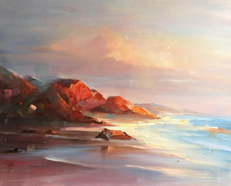 (CreativeWork) Cape Leveque #6 by Liliana Gigovic. oil-painting. Shop online at Bluethumb.