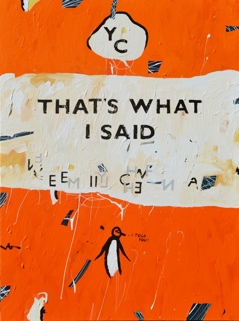 (CreativeWork) COMMISSION, RESERVED - Unpopular Penguin 157 by Ben Tankard. acrylic-painting. Shop online at Bluethumb.
